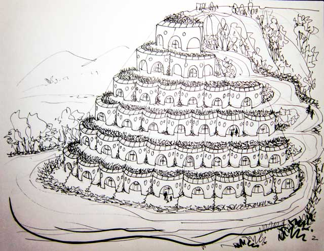 Earthship Sketch, One Community