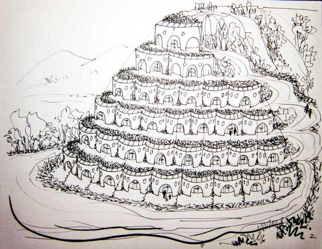 Earthship Sketch, One Community