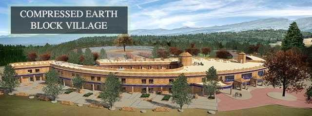 Compressed Earth Block Village Header, Earthbrick Village, Earth Brick Village