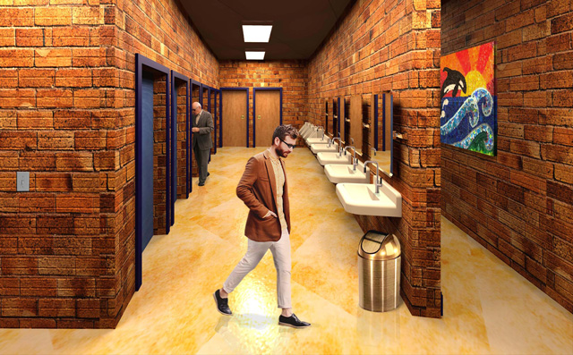 One Community Earth Block Village Men's Bathroom with people Final Render, 640