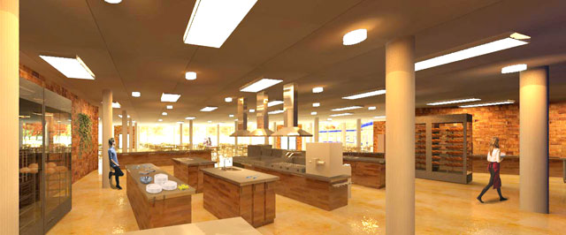 Kitchen Render looking North, One Community, Compressed Earth Block Village, Dan Alleck, blog 238