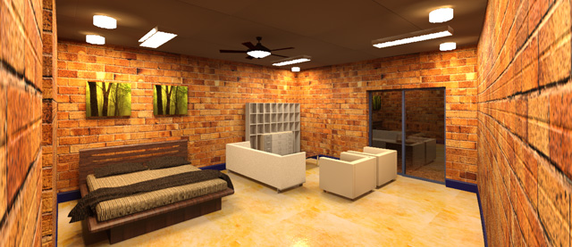 One Community Earth Block Village living South Wing Single Final Render, 640