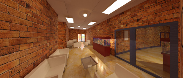 Compressed Earth Block Village, Waiting Area Final, One Community