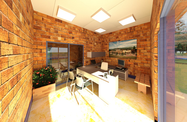 One Community Earth Block Village Final Render East-wing office spaces