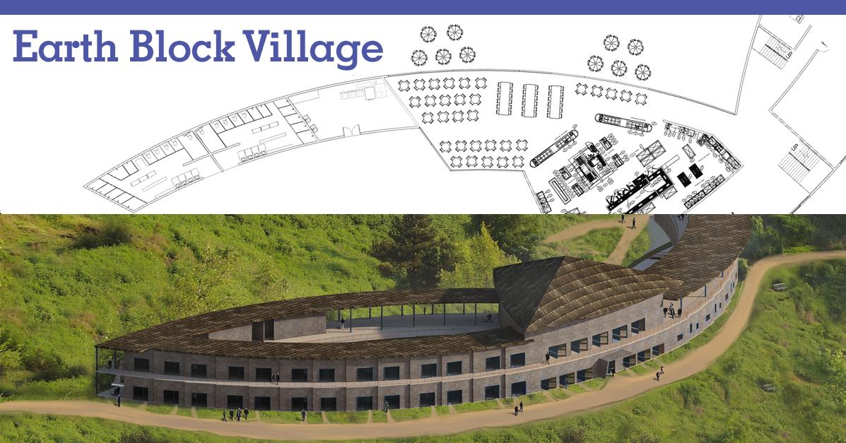 Compressed earth block village one community open source village 4