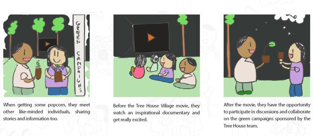 Tree House Village Comic of Movie Screening, Movie Screenings at the Tree House Village 2
