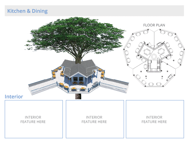 Tree house village kitchen and Dining structures, final render ,One Community