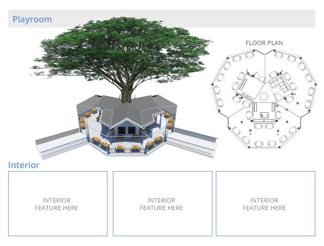Tree house village Playroom Structures, One Communitt