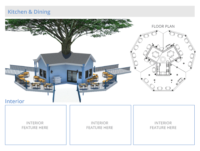 Tree house village Kitchen and Dining structure, final render, One Community