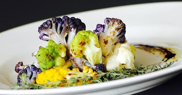 Roasted Cauliflower, Rice, & Balsamic Reduction