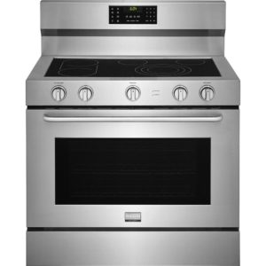 40 in. 6.4 cu. ft. Single Oven Electric Range with Self-Cleaning Convection Oven in Stainless Steel