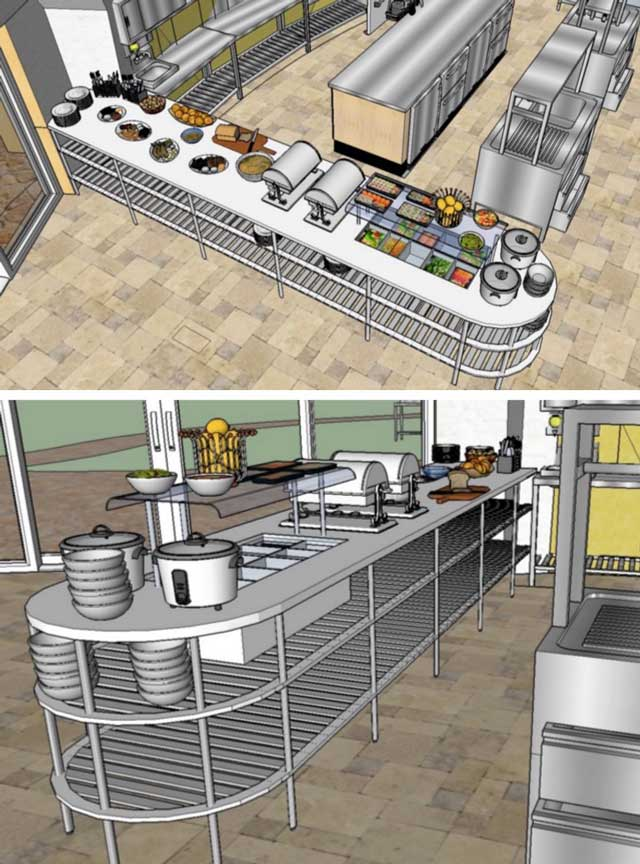 Commercial Kitchen Plumbing Diagram