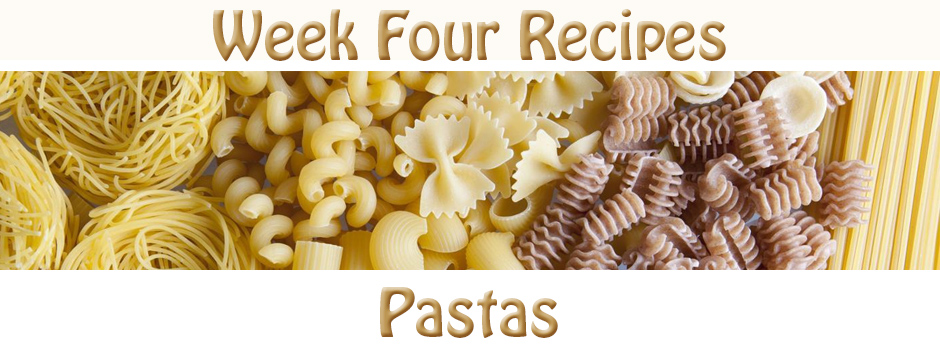 Recipes for Week 2 - Pasta Recipes, Recipes for Pasta