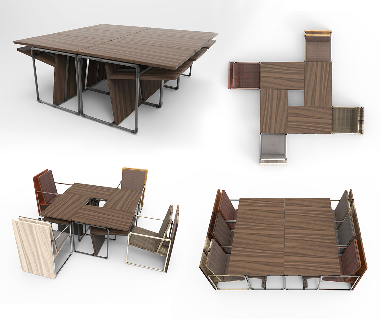 Large-Table-Collage, pipe furniture
