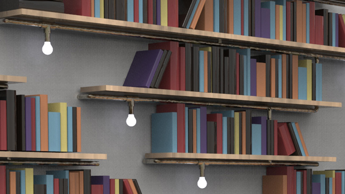 Library Pipe Shelving Header