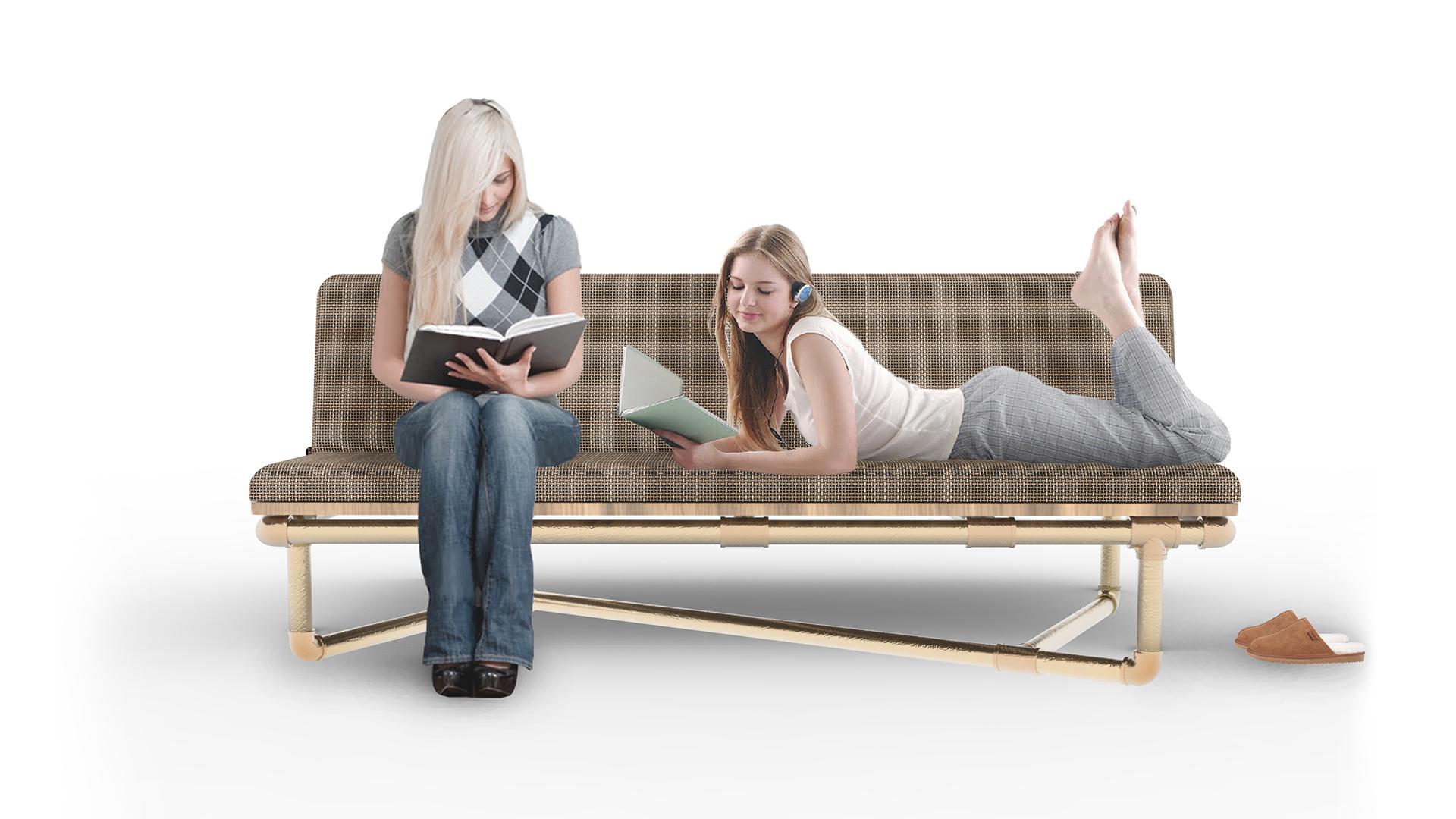 Pipe Furniture Part - 22: Sofa 4, Pipe Furniture