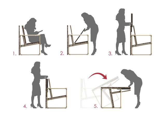 Using-Chair-as-a-Table-Diagram, pipe furniture