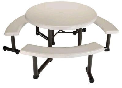 Round Picnic Table, One Community