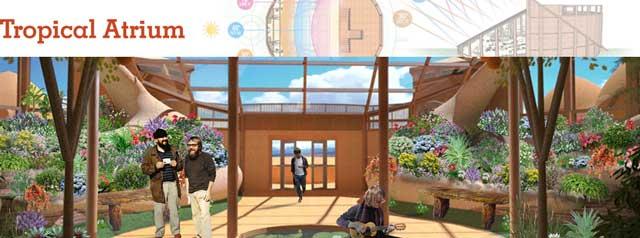 Tropical Atrium Header, blog 222, Additionally, we created this new Tropical Atrium header and Facebook image.