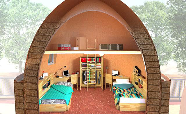 Updated Earthbag Village Children's furniture model, blog 215, One Community