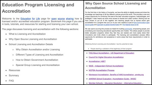 This week we finished another round of research and editing of the School Licensing and Accreditation tutorial behind-the-scenes. We also began adding more detail to the existing Montessori section of the alternative education resource pages.