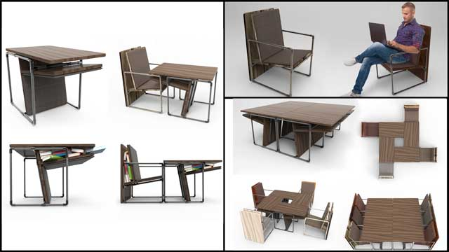 This week the core team created initial image collages for the City Center DIY Pipe Furniture tutorial.