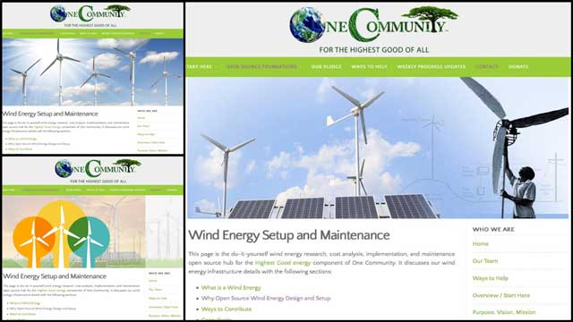 In addition, the core team created 3 header variations for the Wind Energy Setup and Maintenance Page,and chose the one on the right to add the page.