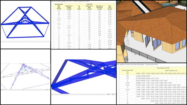 "Haoxuan ""Hayes"" Lei (Structural Engineer) and Shuna Ni (Masters of Mechanical Engineering and Civil Engineering PhD) also continued their work on the City Center structural engineering. This week's focus was continuing the roof designs and working out more details for the column flange and weight specifics, as shown here."