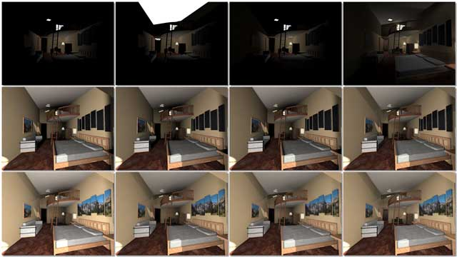 And Dean Scholz (Architectural Designer), continued helping us create quality Cob Village (Pod 3) renders. Here is update 57 of Dean's work developing this progression of 30 images for the room lighting for the Eastside living spaces: