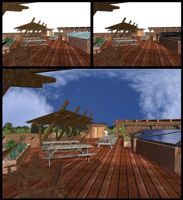 Dean Scholz (Architectural Designer), continued helping us create quality Cob Village (Pod 3) renders. Here is update 44 of his work creating all the iterations you see here...