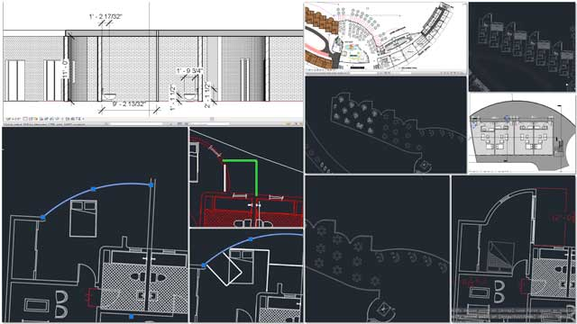 Hamilton Mateca (AutoCAD and Revit Drafter and Designer) also finished his 16th week helping evolve the Compressed Earth Block Village (Pod 4). This week's focus was adding a North exit and patio area to the North living-space layouts and beginning modeling the large-scale bathroom details in Revit: