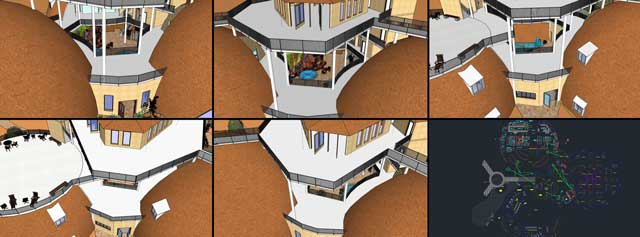 As part of these, we also added the columns into all the other perspectives to check the 3-D view and accuracy as compared to the AutoCAD file, identifying all discrepancies as shown here.