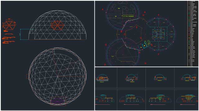 And Renan Dantas (Mechanical Engineer) continued with his 9th week working on the Duplicable City Center AutoCAD updates. This week's focus was continuing to integrate the new dome geometry into the Master File and simplification and standardization of the Faster File layers.
