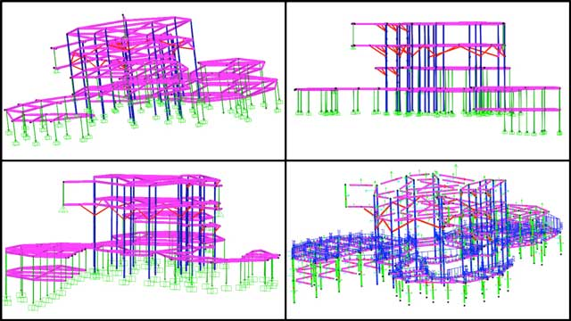 Shuna Ni (Masters of Mechanical Engineering and Civil Engineering PhD) continued working on the City Center structural engineering. This week's focus was continuing calculations for the braces and columns