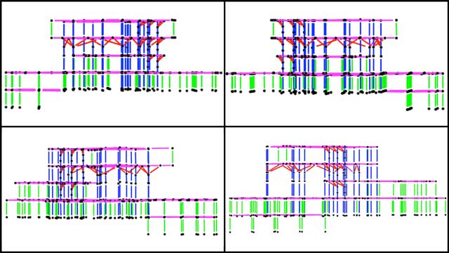 Shuna Ni (Masters of Mechanical Engineering and Civil Engineering PhD) also continued working on the City Center structural engineering. This week's work focused on calculations for the added braces you see here that will support the 4th floor and storage rooms attached to the elevator area.