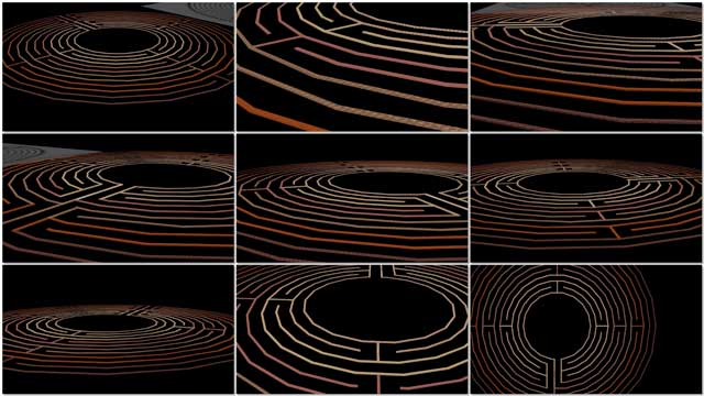 Guy Grossfeld (Graphic Designer) continued with 3D earth block construction for the Compressed Earth Block Village (Pod 4) labyrinth meditation walking path. This week's focus was working on the dark-to-light texture pattern shown here and minor layout corrections.
