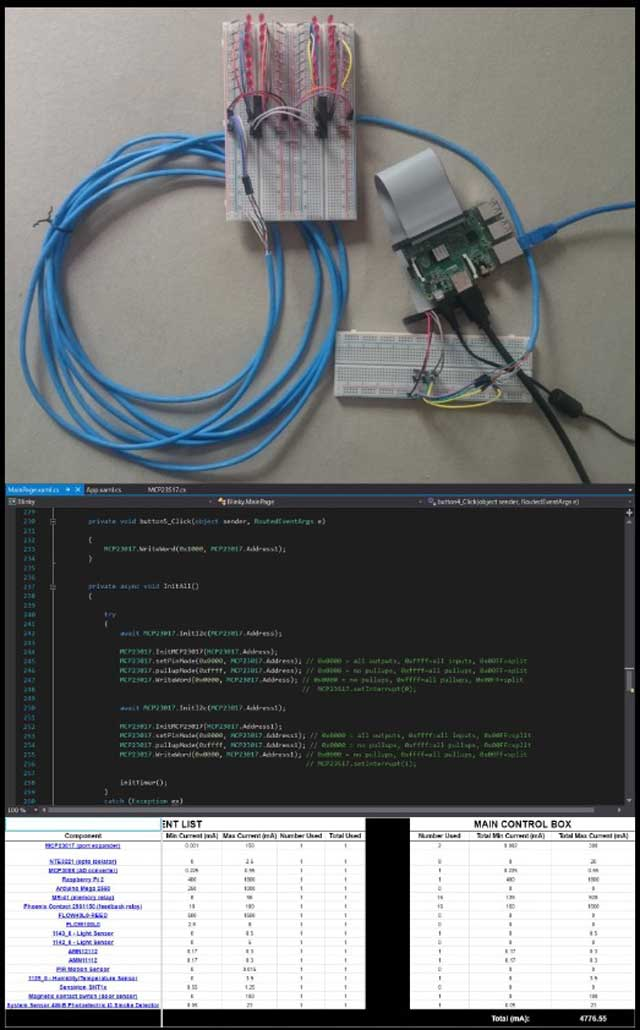 Lucas Tsutsui da Silva (4th-year Computer Engineering Student) also did long cable tests for the Pi2, updated code he'd been testing for functionality, and updated the current requirements spreadsheet to include the total current information for the main controller box.