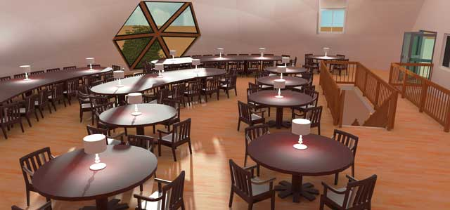 Updated this dining dome render with the new internal color scheme.