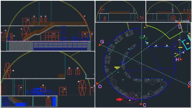 And Renan Dantas (Mechanical Engineer) continued with his 3rd week working on creating our next generation of Duplicable City Center section drawings. This week's focus was on the updated details of Sections A-D as shown here.