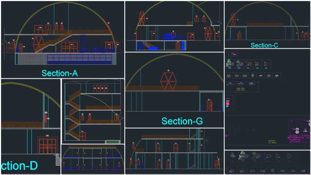 And Renan Dantas (Mechanical Engineer) continued with his 4th week working on creating our next generation of Duplicable City Center section drawings. This week's focus was reorganizing the complete Master File and further updates to layer organization, colors, and details for all the sections shown here.