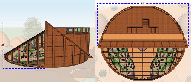 One Community Tropical Atrium, Final Render, Plan View