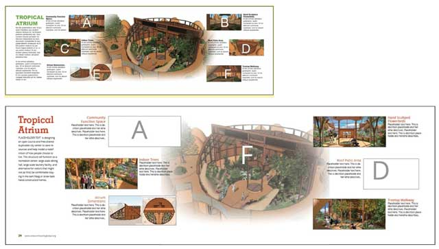 ....and incorporated them into the 7 villages online book along with updates to the front spread: