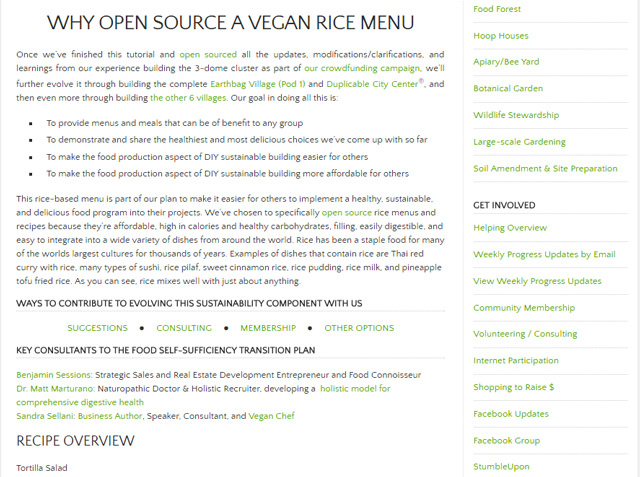 This week, the core team finished reformatting and adding sections to the Vegan Rice Recipes & Omnivore Rice Recipes. You can see a sample of that work here, on the vegan rice recipe page.