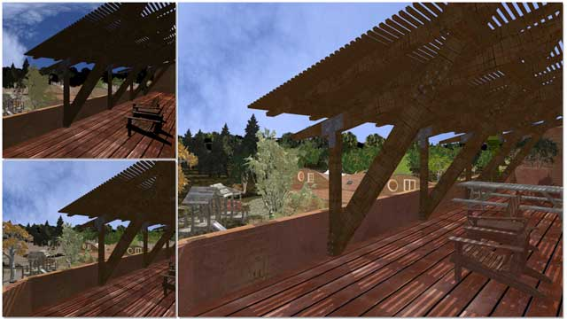 Dean Scholz (Architectural Designer), continued helping us create quality Cob Village (Pod 3) renders.