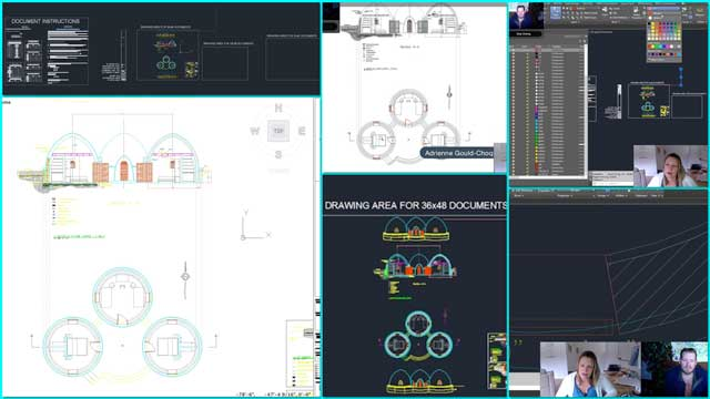 Adrienne Gould-Choquette (Mechanical Engineer) also finished her 2nd week with the team, helping work on the standardized AutoCAD layers and line weights template we are creating. Here are screenshots of our collaborative call discussing this work.