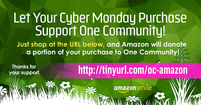 One Community, Amazon Smile Cyber Monday-640