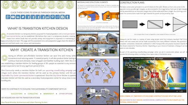 Jennifer Zhou (Web Designer) also completed phase I of the edits and reorganization of the Transition Kitchen page, bringing that page to 40% completion. You can see screenshots of this work in progress here