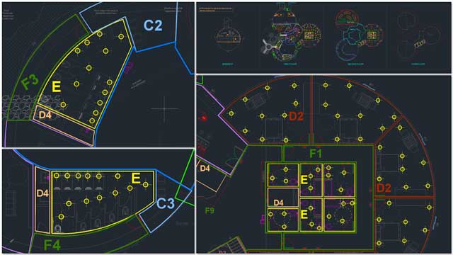 Dipti Dhondarkar, (Electrical Engineer) continued with her 26th week of work on the lighting specifics for the City Center. This week's focus was creation of a simplified zone drawing and beginning initial light placement.