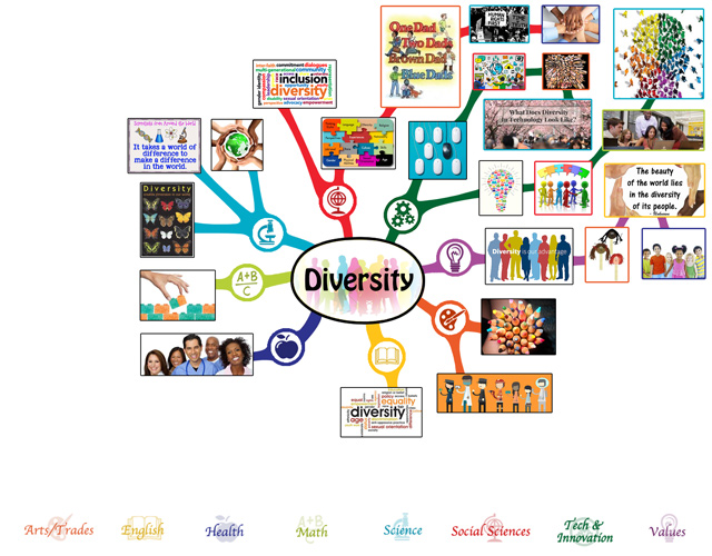 The core team also completed the first 50% of the mindmap for the Diversity Lesson Plan, bringing it to 50% complete, as you can see here: