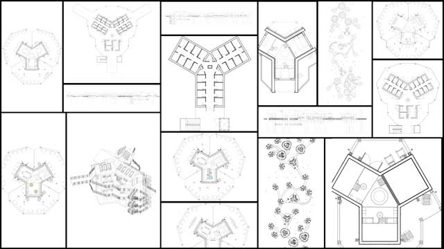 Tree house village technical drawings, Jiming, blog 208